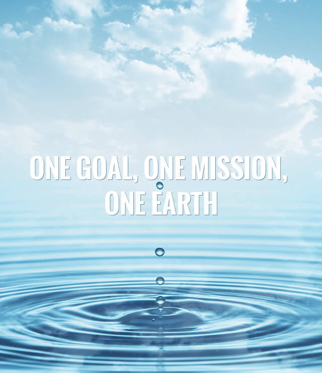 ONE GOAL, ONE MISSION,  ONE EARTH
